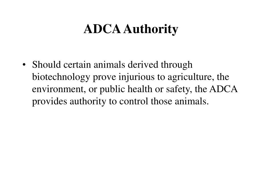 ADCA Authority