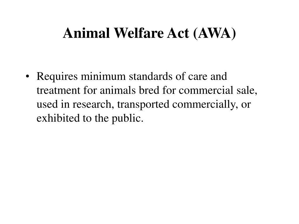 Animal Welfare Act (AWA)