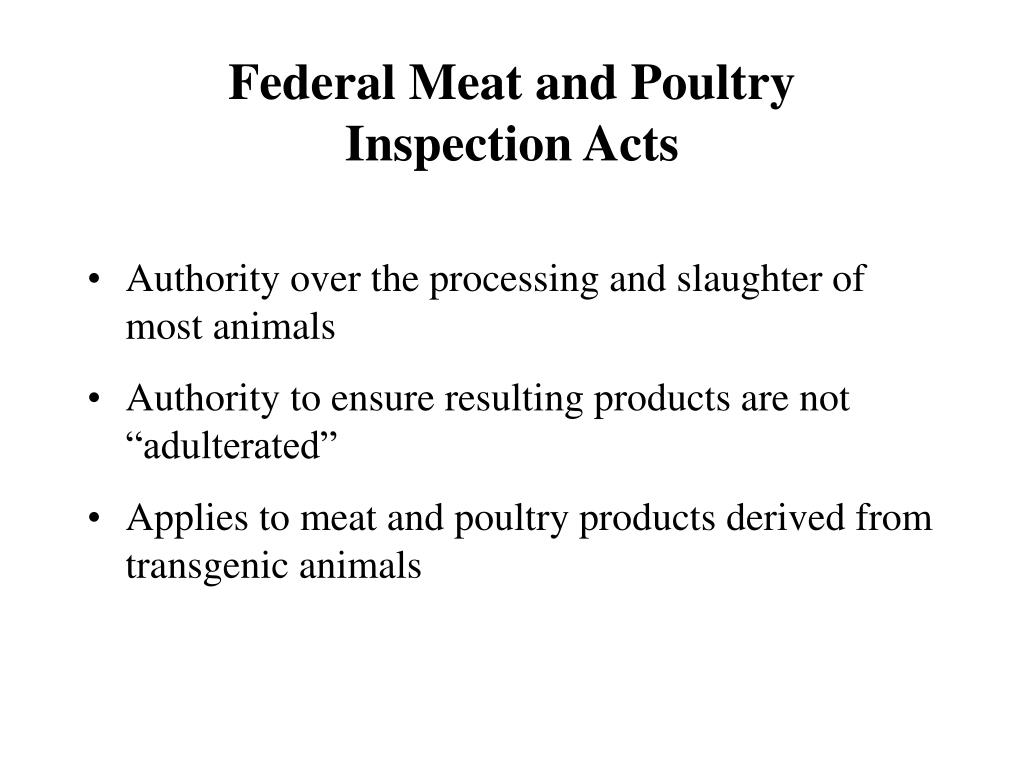Federal Meat and Poultry