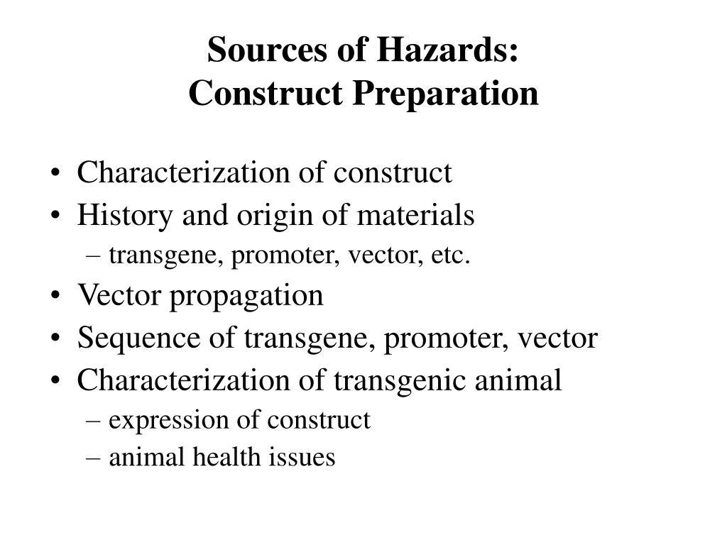 Sources of Hazards:
