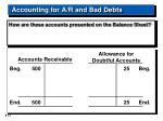 accounting for a r and bad debts