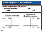 accounting for a r and bad debts16
