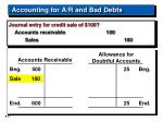 accounting for a r and bad debts17