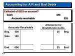 accounting for a r and bad debts18