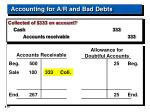 accounting for a r and bad debts19