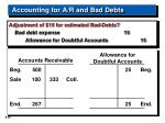 accounting for a r and bad debts20