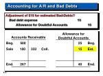 accounting for a r and bad debts21