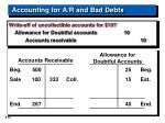 accounting for a r and bad debts22