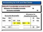 accounting for a r and bad debts23