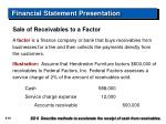 financial statement presentation59