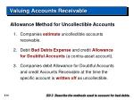valuing accounts receivable26