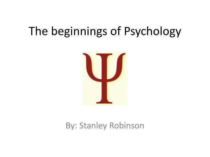 the beginnings of psychology n.