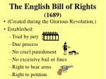 the english bill of rights 1689