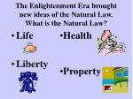 the enlightenment era brought new ideas of the natural law what is the natural law