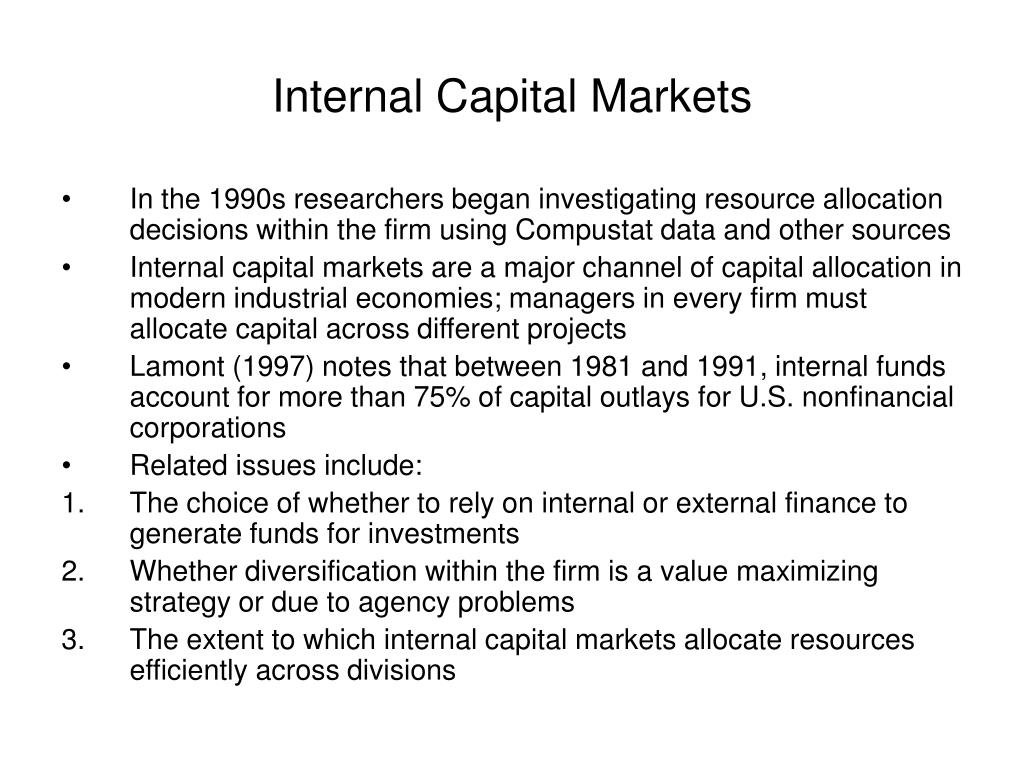 internal capital markets l.