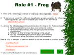role 1 frog