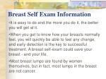 breast self exam information