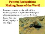 pattern recognition making sense of the world