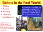 robots in the real world