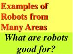 what are robots good for