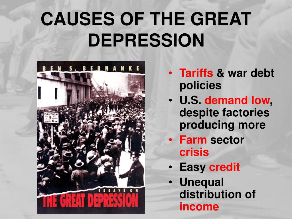 PPT - THE GREAT DEPRESSION BEGINS PowerPoint Presentation ...