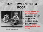gap between rich poor
