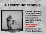 hardest hit regions