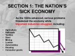 section 1 the nation s sick economy