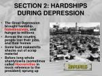 section 2 hardships during depression