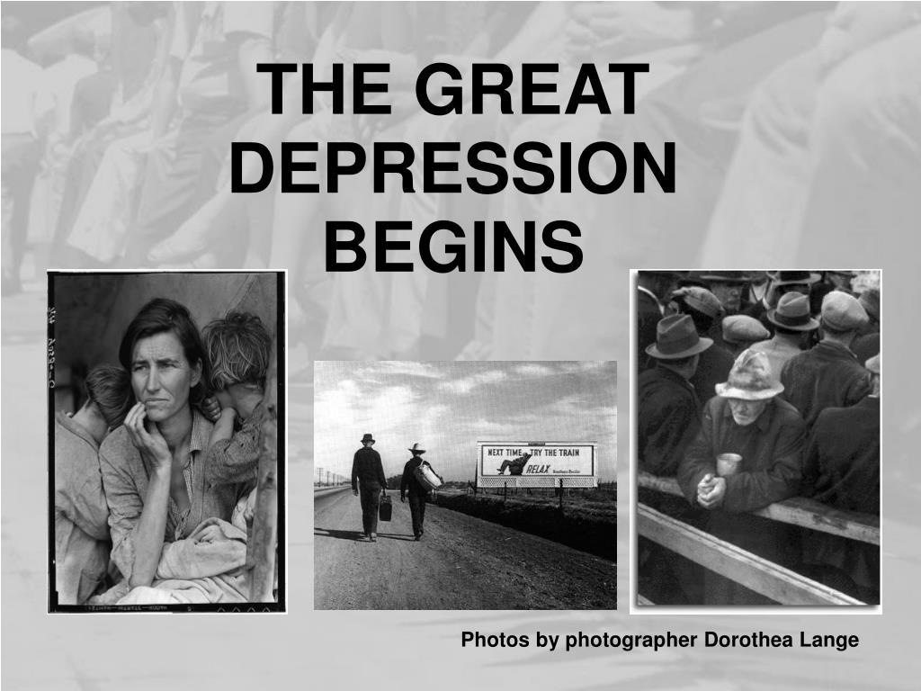 the great depression begins l.