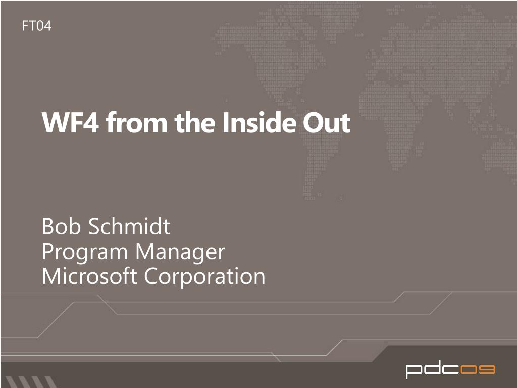 wf4 from the inside out l.