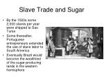 slave trade and sugar