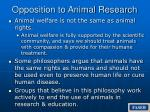 opposition to animal research