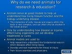 why do we need animals for research education