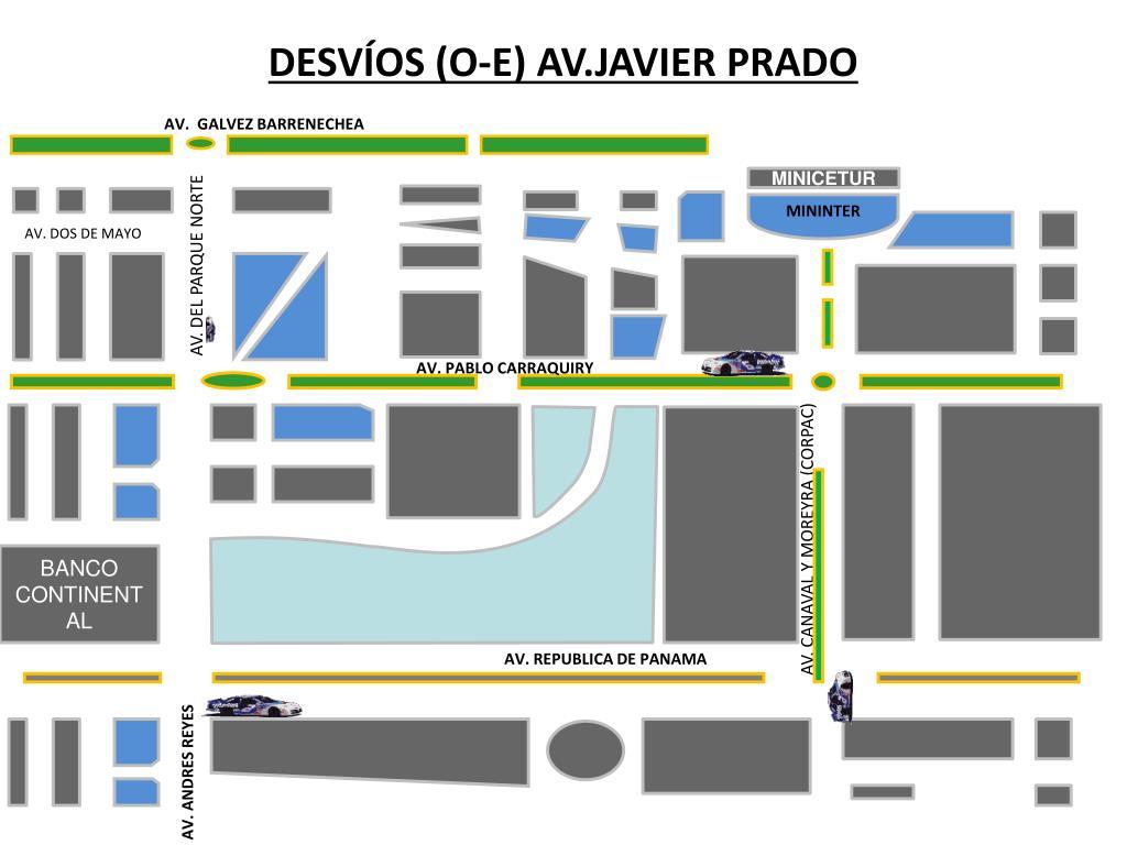 DESVÍOS (O-E) AV.JAVIER PRADO