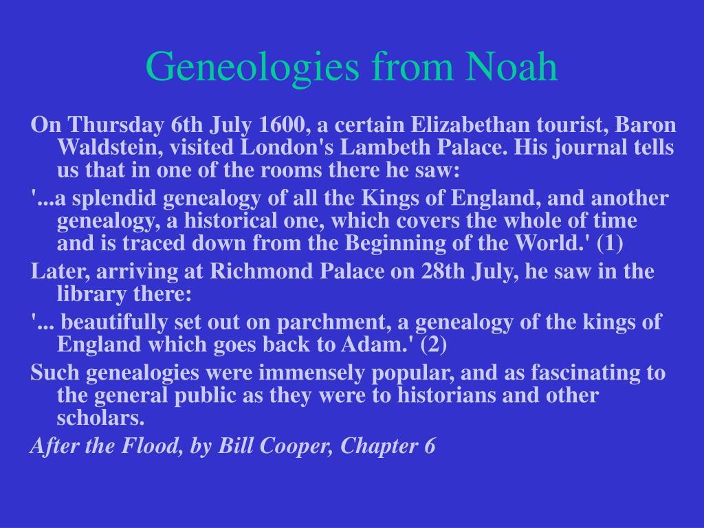 Geneologies from Noah