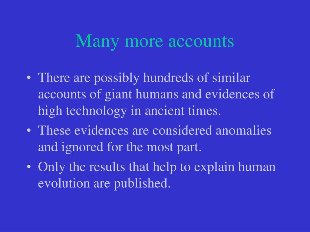 Many more accounts