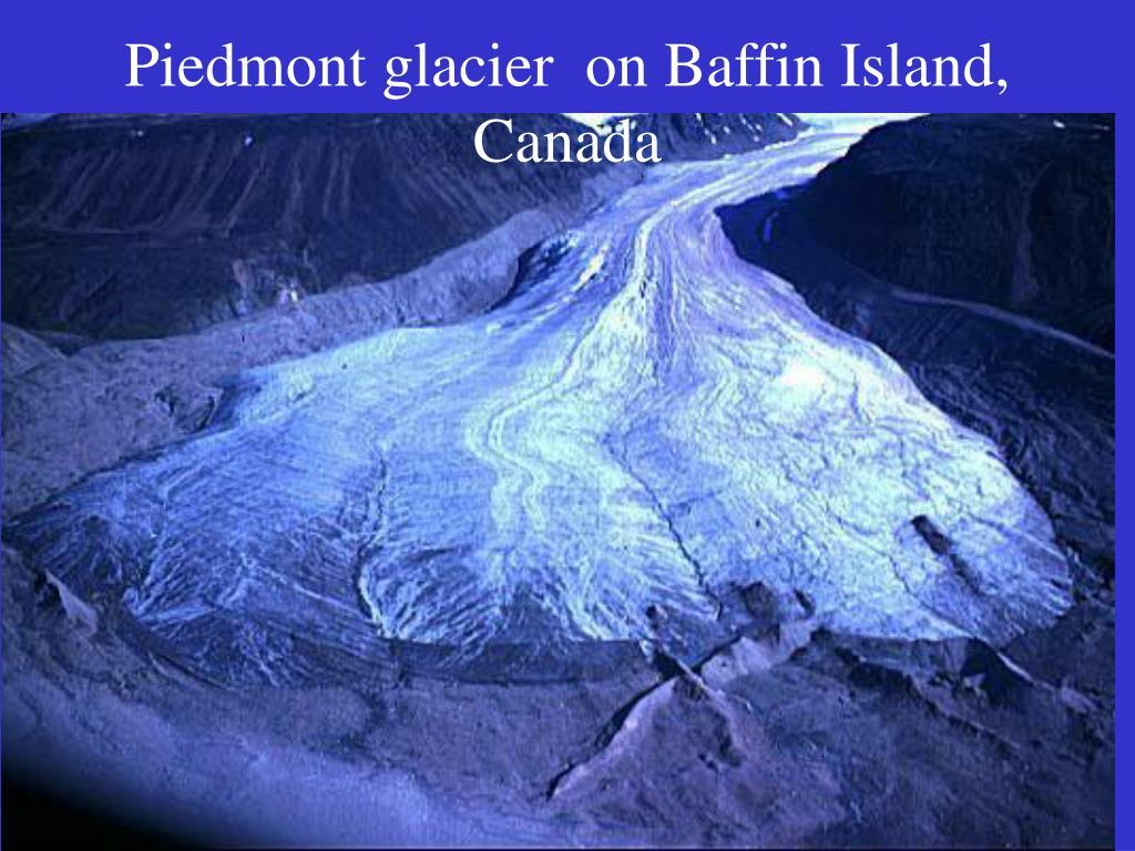 Piedmont glacier on Baffin Island, Canada
