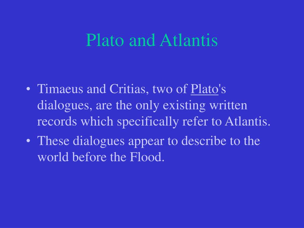 Plato and Atlantis