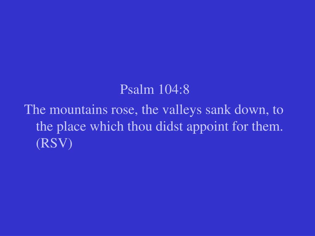 Psalm 104:8