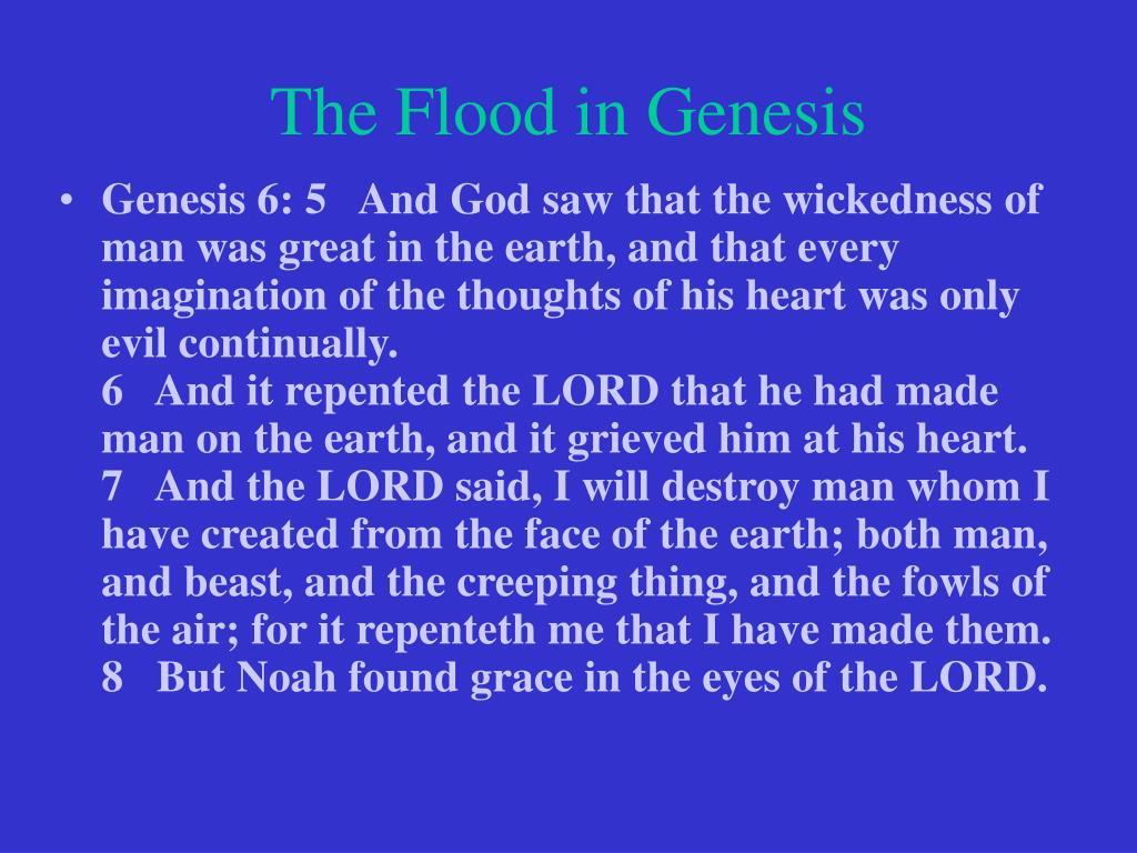 The Flood in Genesis