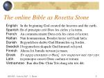 the online bible as rosetta stone