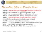 the online bible as rosetta stone11