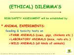 ethical dilemma s