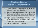 glorious qur an surah ix repentance