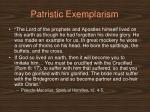 patristic exemplarism