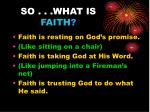 so what is faith