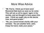 more wise advice