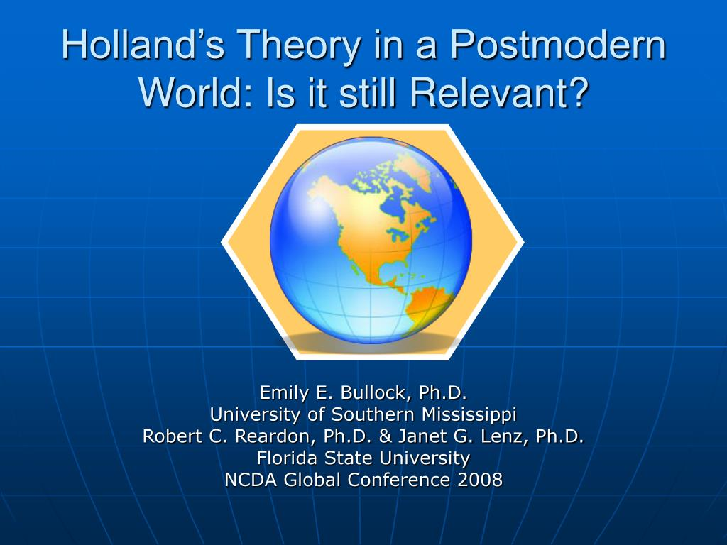 holland s theory in a postmodern world is it still relevant l.