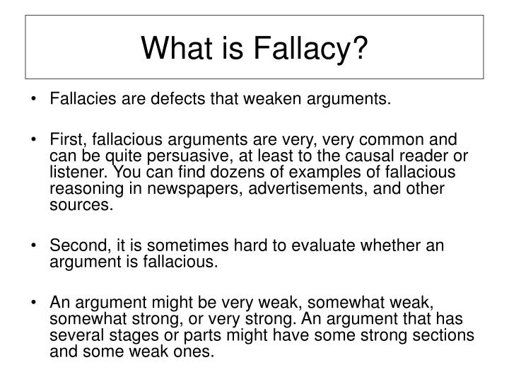 What is fallacy